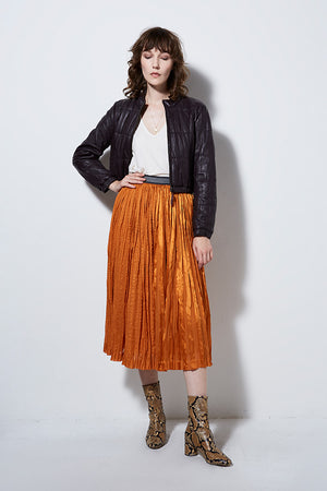 LUCID PLEATED SILK SKIRT | BURNING TORCH | WOMEN'S SILK SKIRT