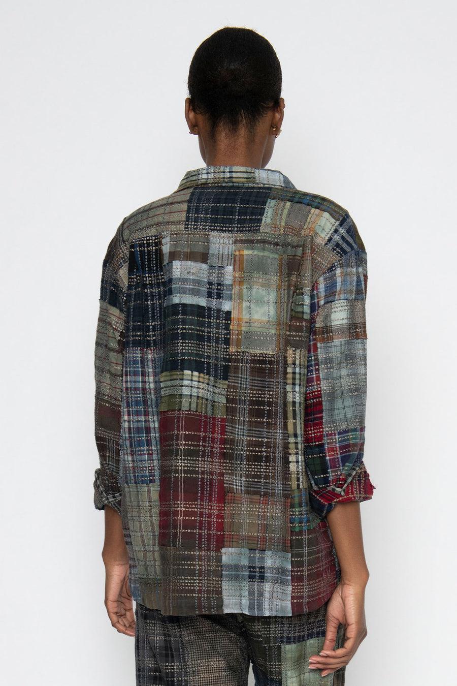 GRIFFIN VINTAGE EMBROIDERED FLANNEL SHIRT