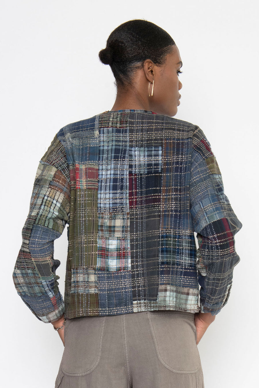 GRIFFIN VINTAGE FLANNEL EMBROIDERED DRAPE JACKET