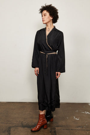 Burning Torch Double layered 100% silk habotai dress.