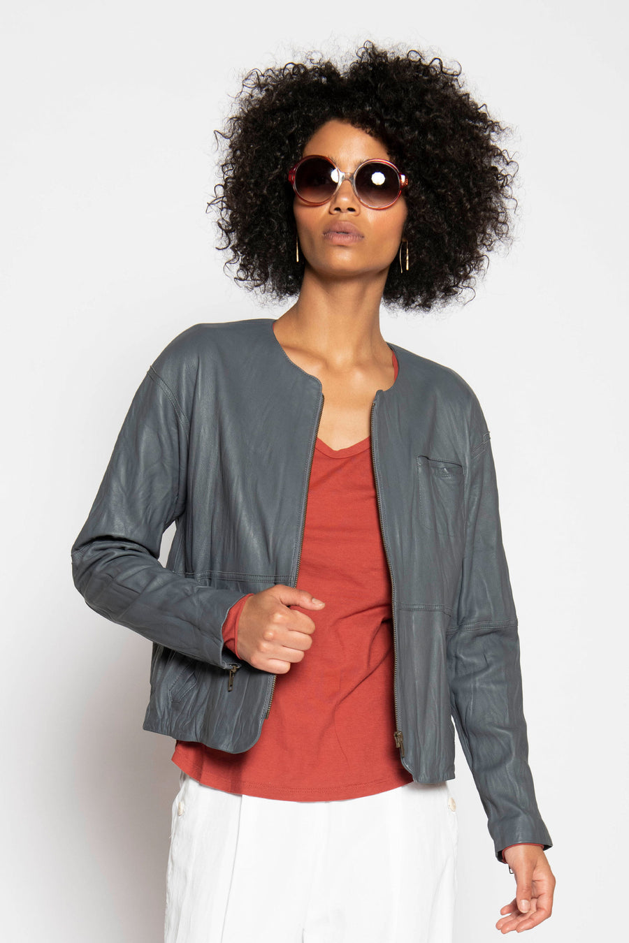 MODERN WASHED LEATHER JACKET
