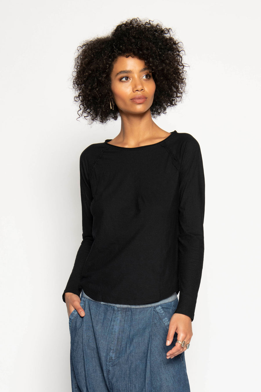 PCH LONG SLEEVE TEE, BLACK