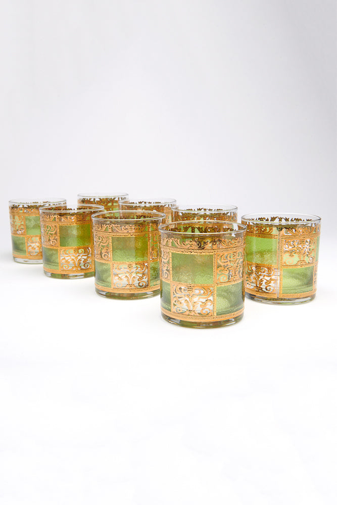 CULVER GREEN GOLD SET OF 8