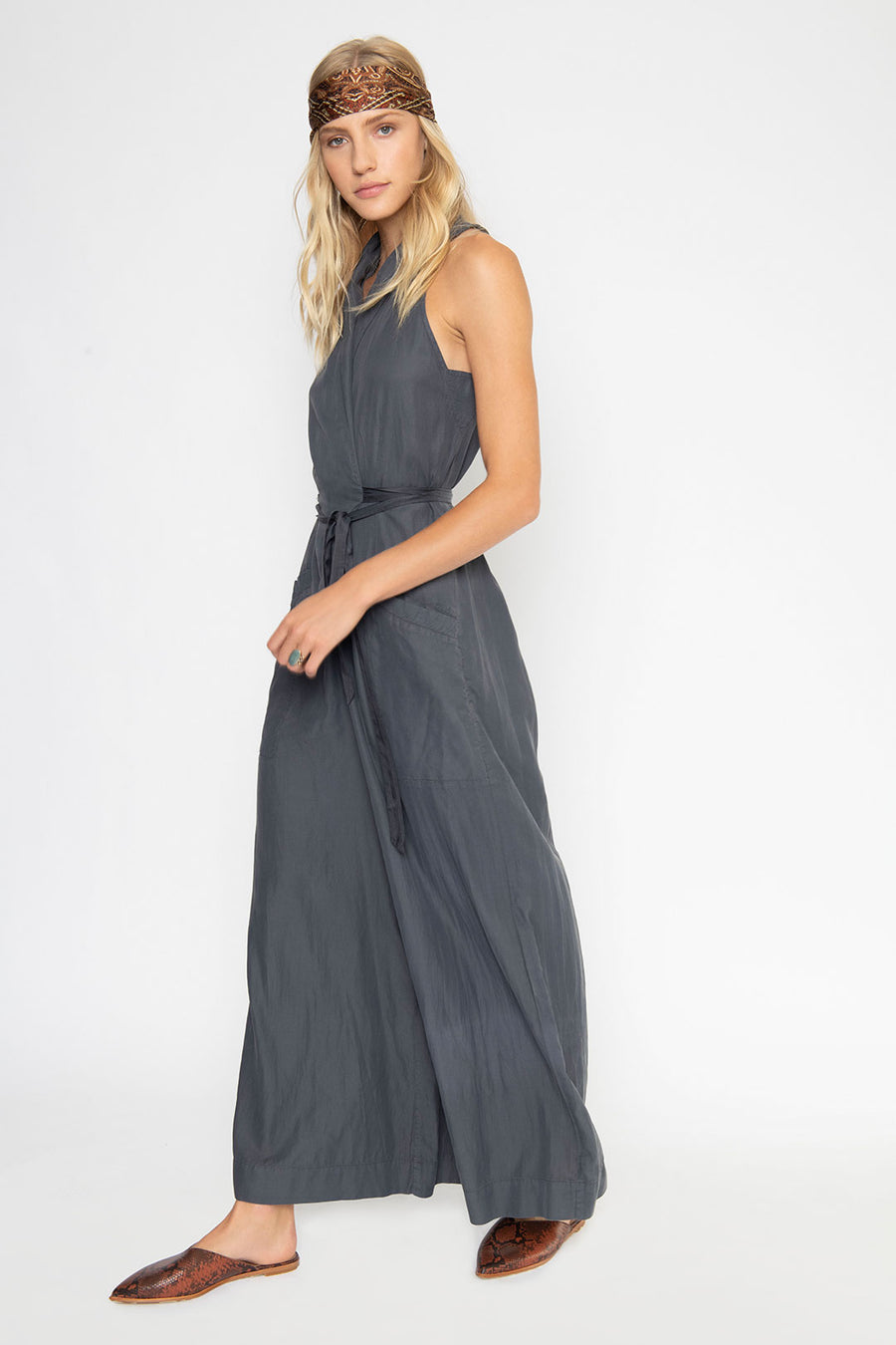 LINCOLN SLEEVELESS JUMPSUIT, GRAPHITE