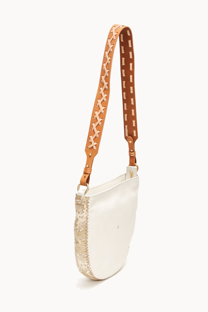 Henry Beguelin WHITE CROSSBODY WITH LACE STRAP