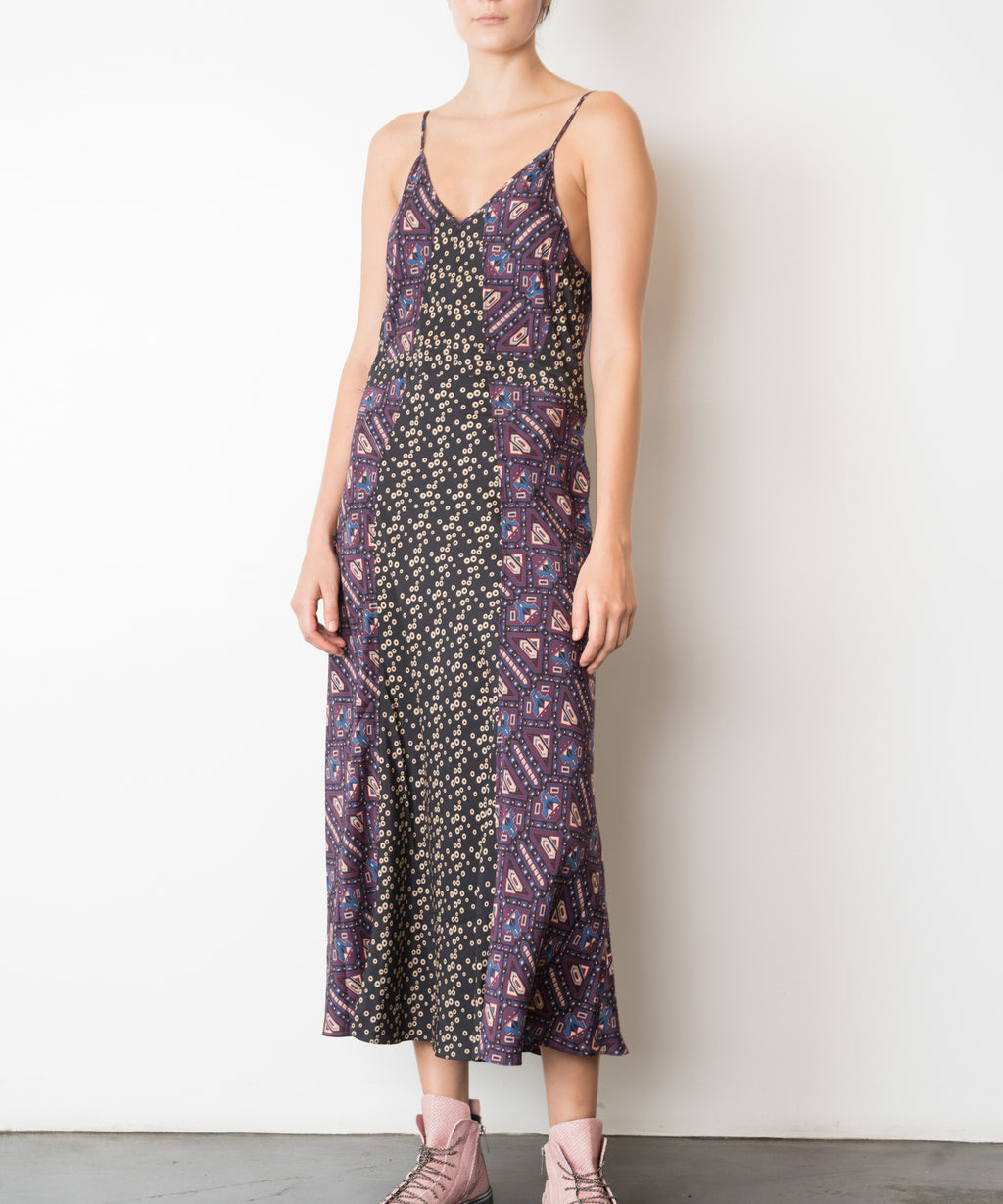 Infinity Printed Silk Slip Dress