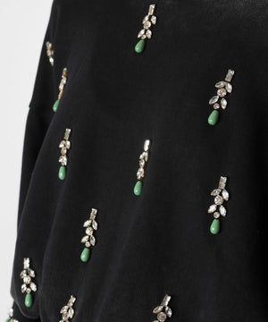 The Treasure Chest  Embellished Cotton Sweatshirt