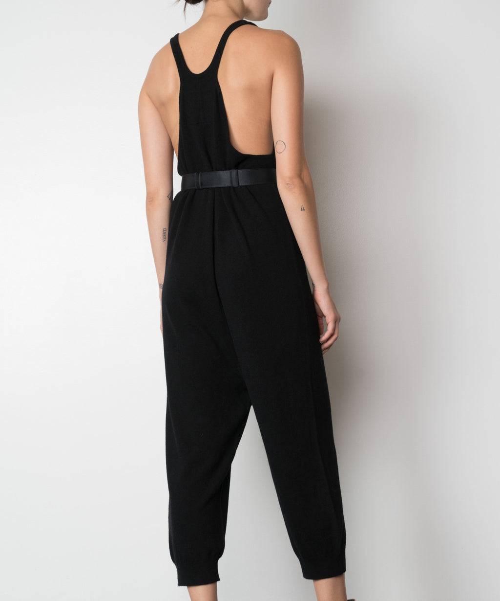 Cheshire Black Cashmere Jumpsuit