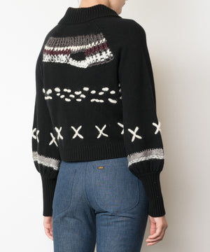 XOXO Cropped Cashmere Sweater