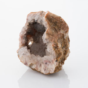 Pink Grey Rutilated Geode
