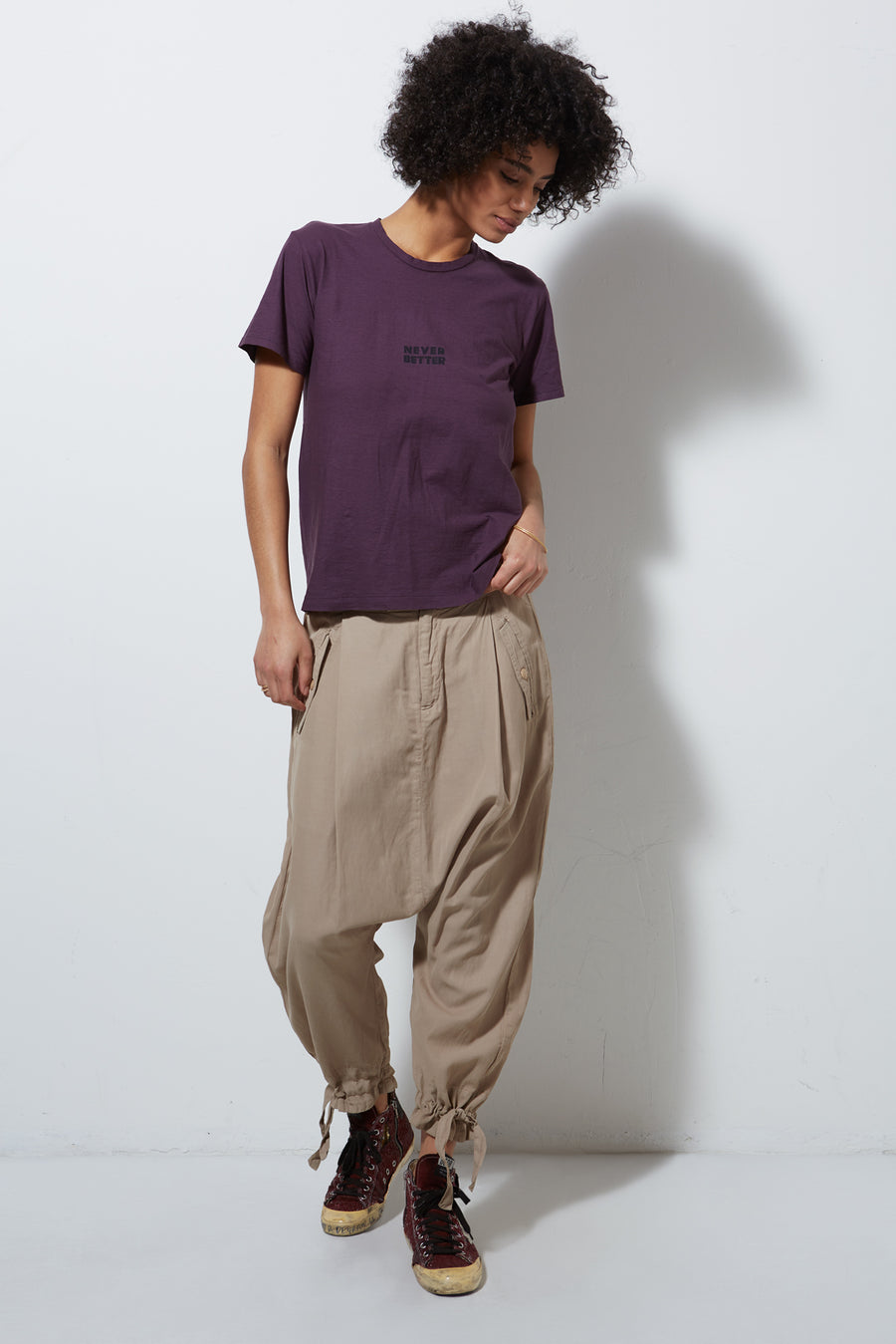 CORE DROP CROP PANTS, KHAKI