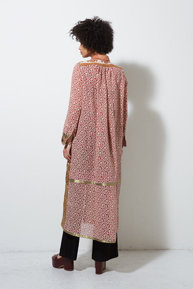 UPCYCLED LONG SLEEVE SARI, LIGHT