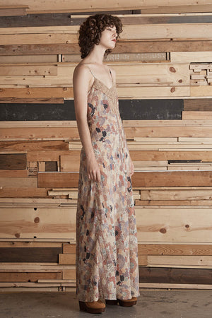 El Finn Printed Long Slip Dress