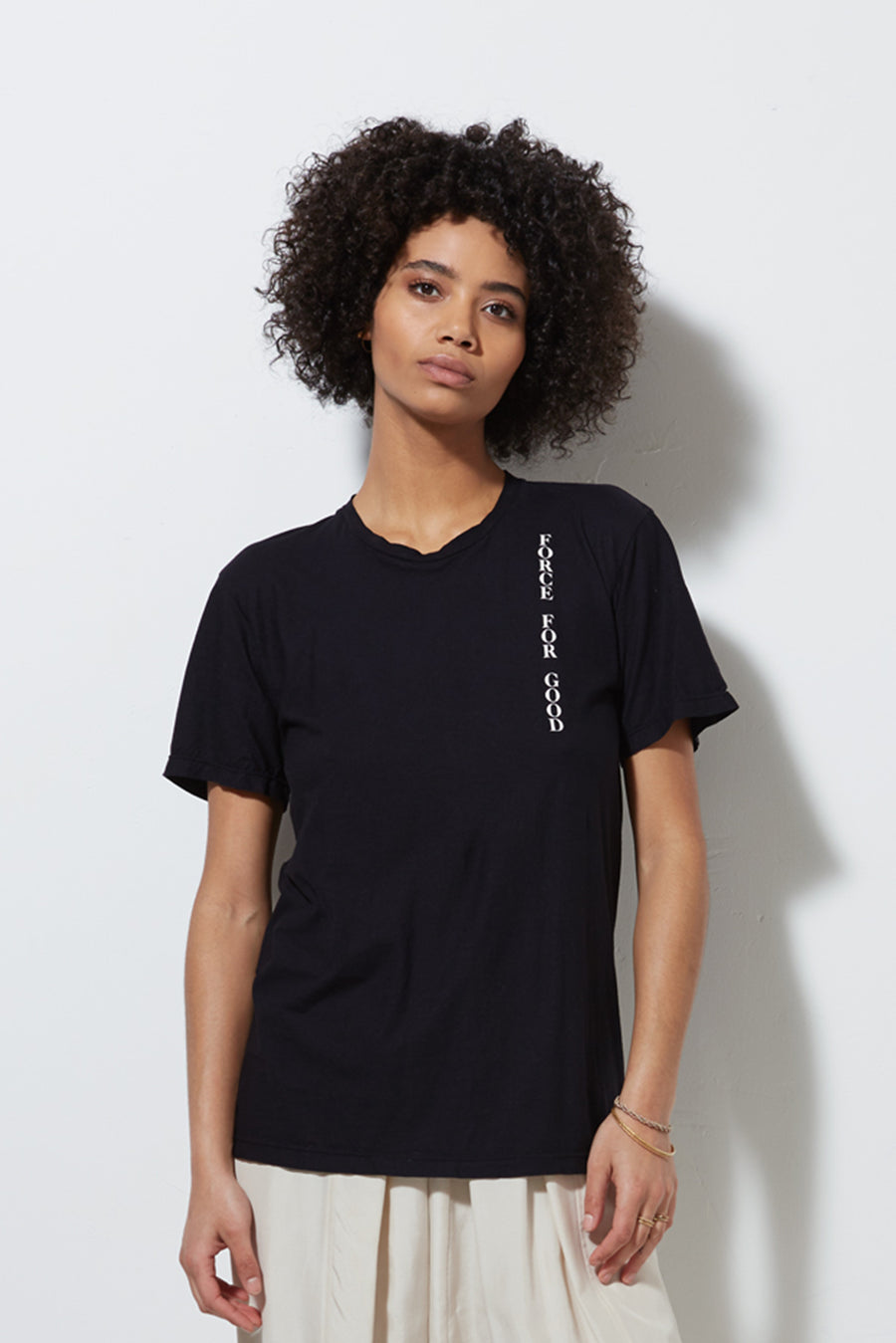 FORCE FOR GOOD TEE, BLACK