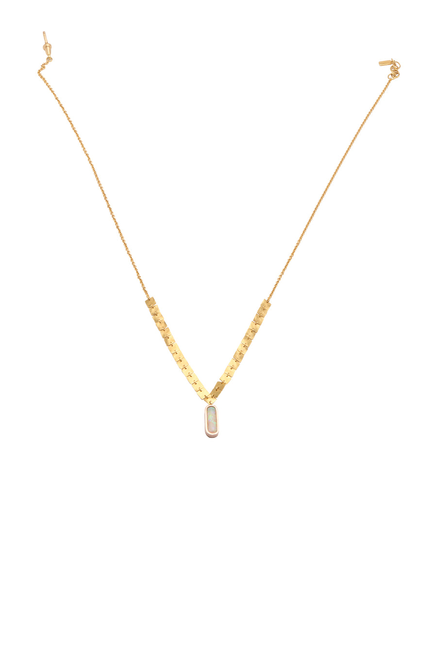 GOLD DUST FIRE OPAL NECKLACE