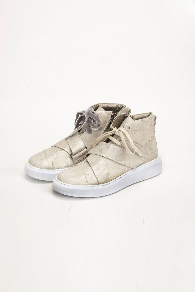 Henry Beguelin High Top Sneaker- Sand