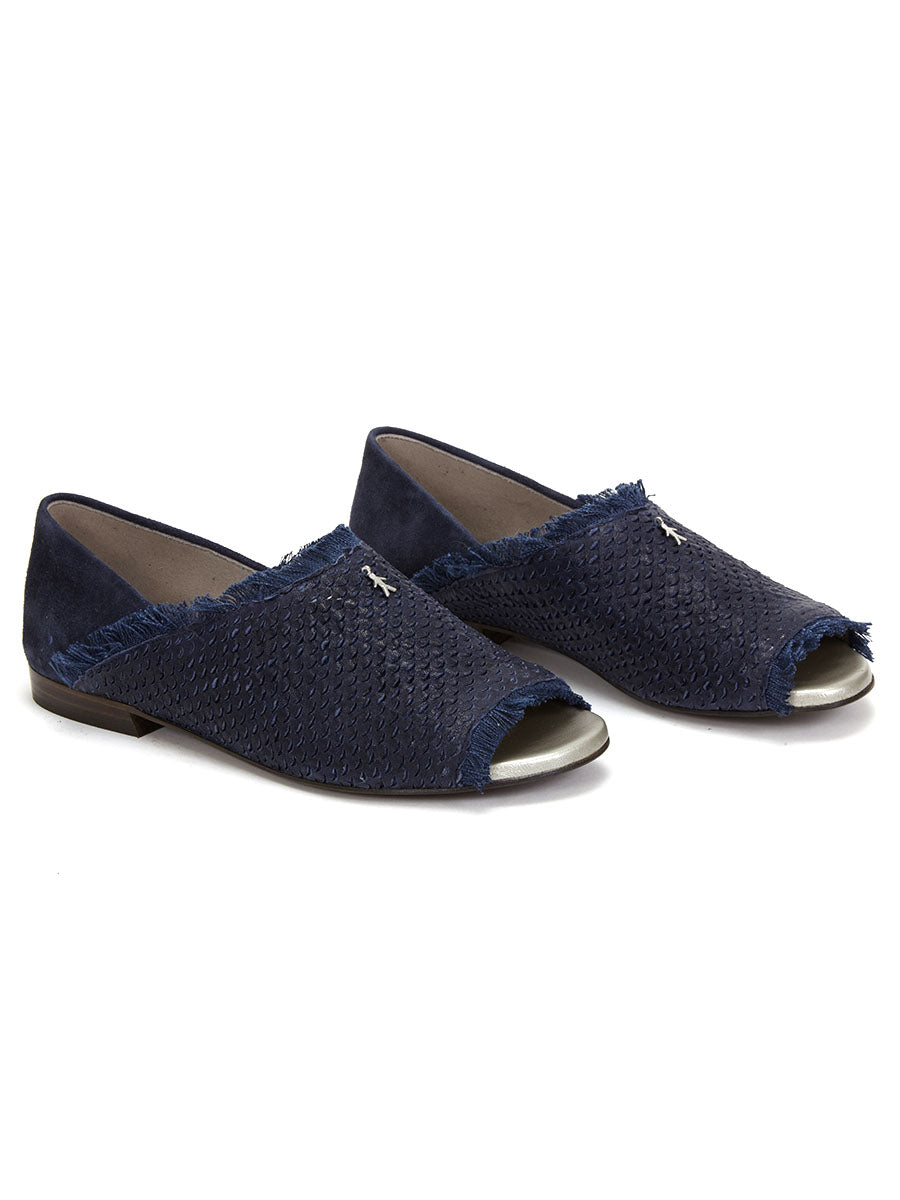 Henry beguelin Scaglia Flat Open Toe Loafer - Midnight Blue