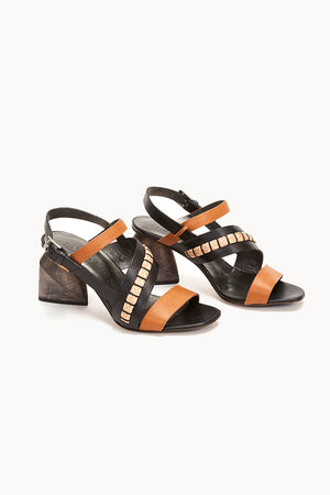 HENRY BEGUELIN Black and Brown OPEN TOE HEEL | Burning Torch