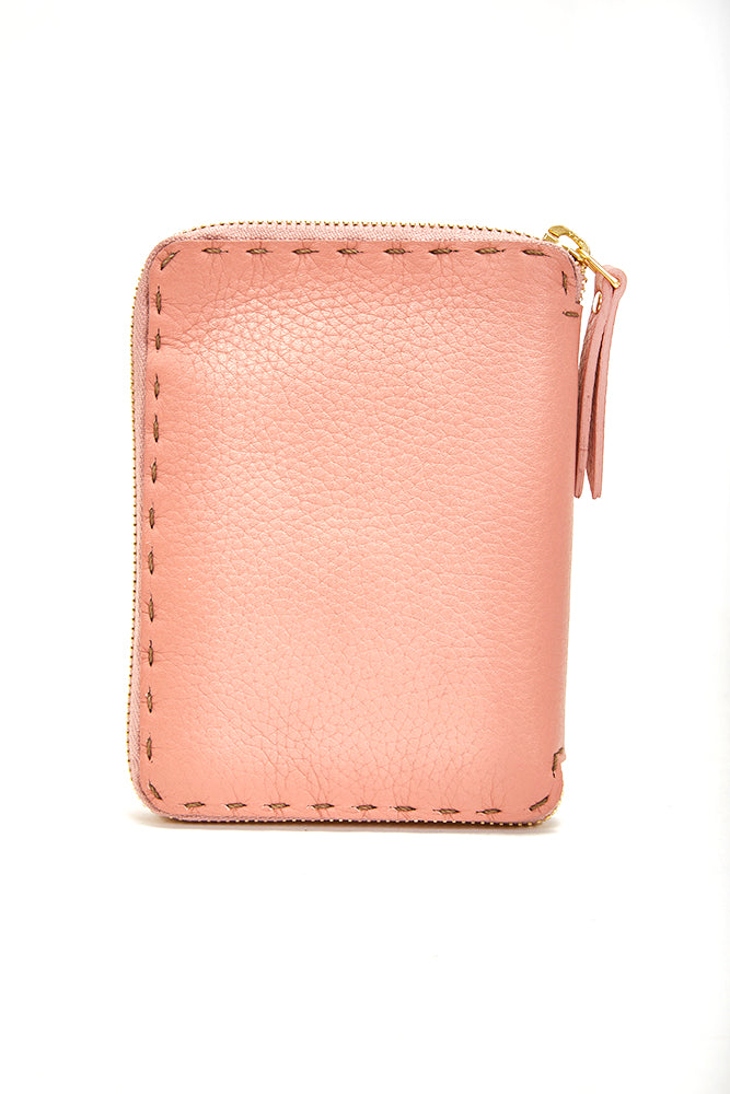 HENRY BEGUELIN ZIP WALLET - ROSE