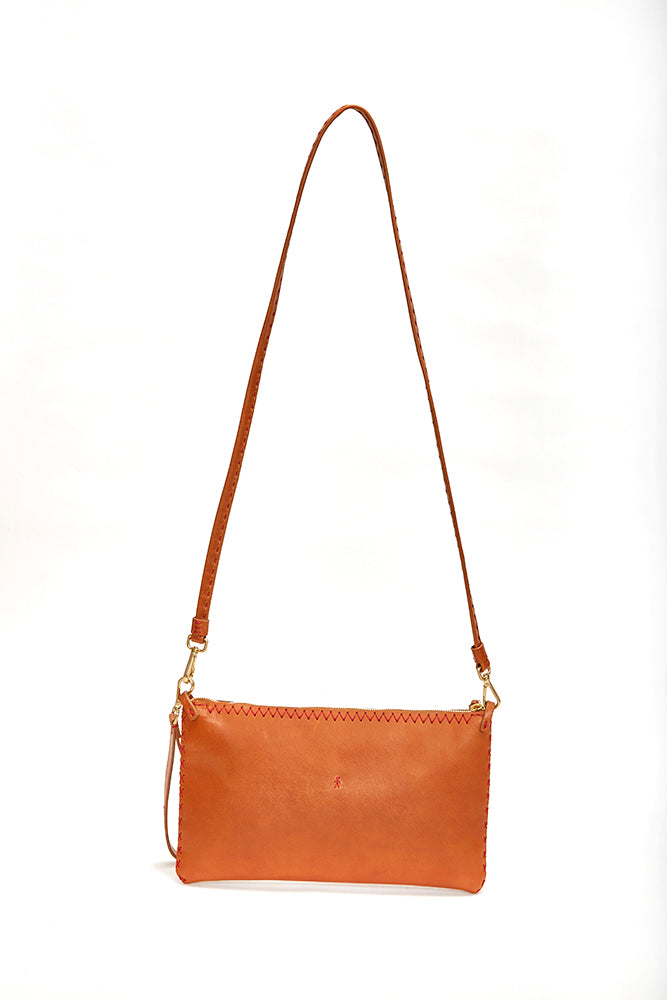 HENRY BEGUELIN LEATHER FLAT ZIP CROSSBODY | BURNING TORCH