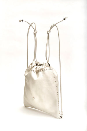Henry Beguelin Leather Backpack, White