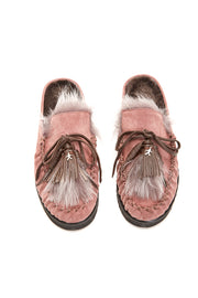 HENRY BEGUELIN SUEDE MOCCASIN WITH FUR