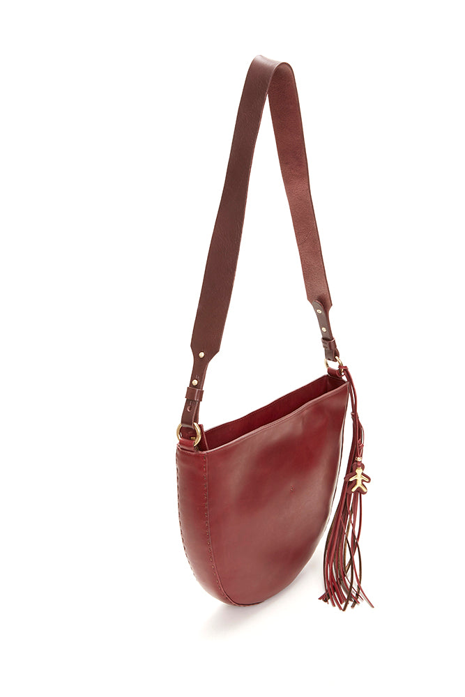 HENRY BEGUELIN LARGE ZIP CLOSURE LEATHER BAG, BROWN