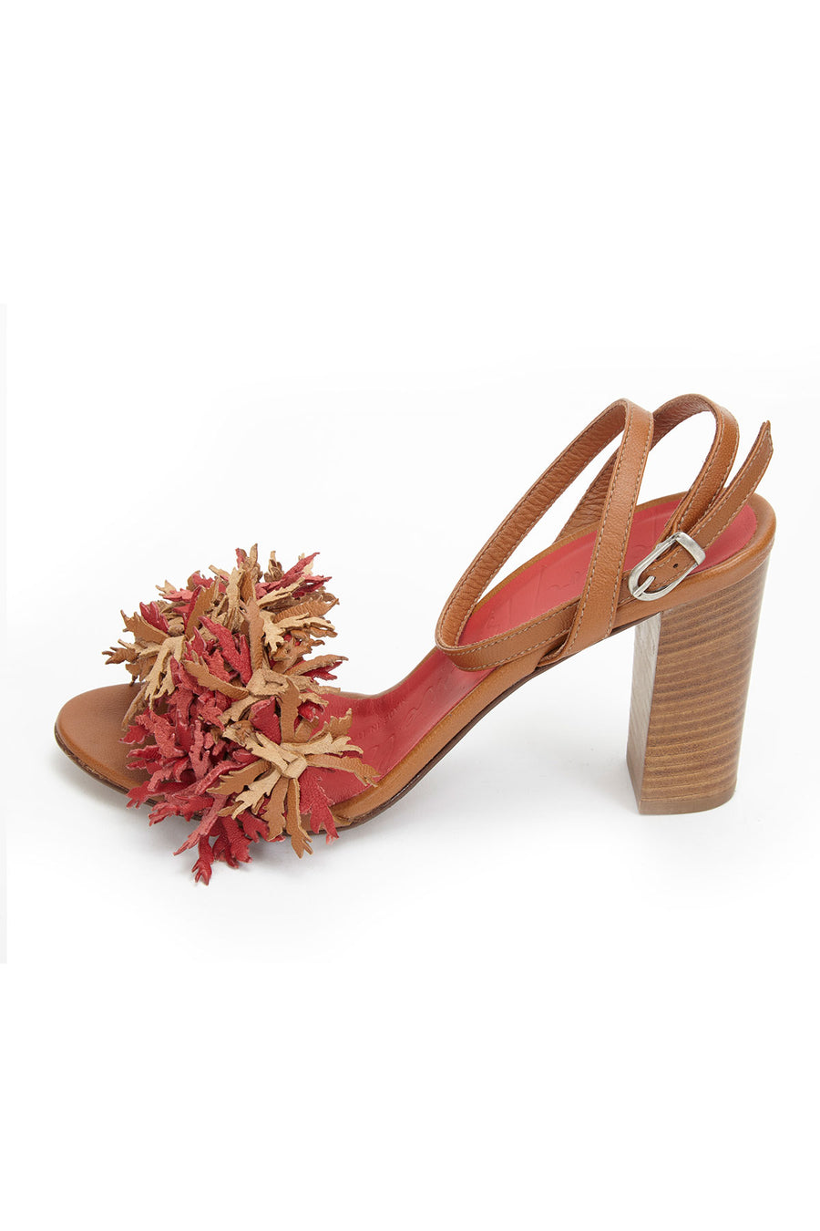 Henry Beguelin Sandalo Fiori Coral and Natural Brown