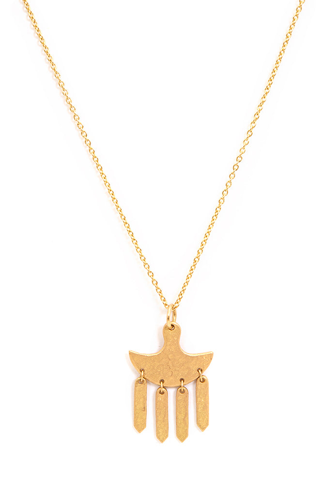 CLEOPATRA GOLD FRINGE DROP NECKLACE | BURNING TORCH