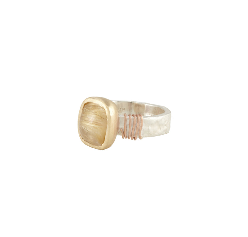 Tsutsumi Rutilated Quartz Ring