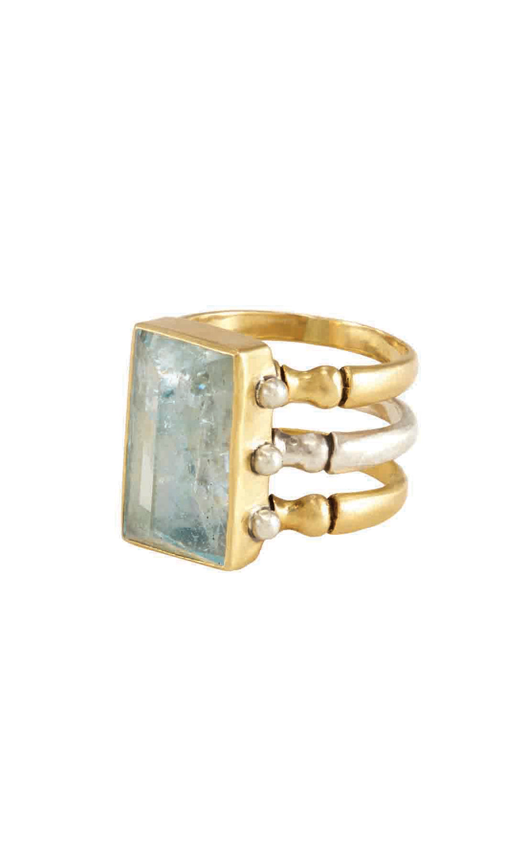 Triad Aquamarine Ring