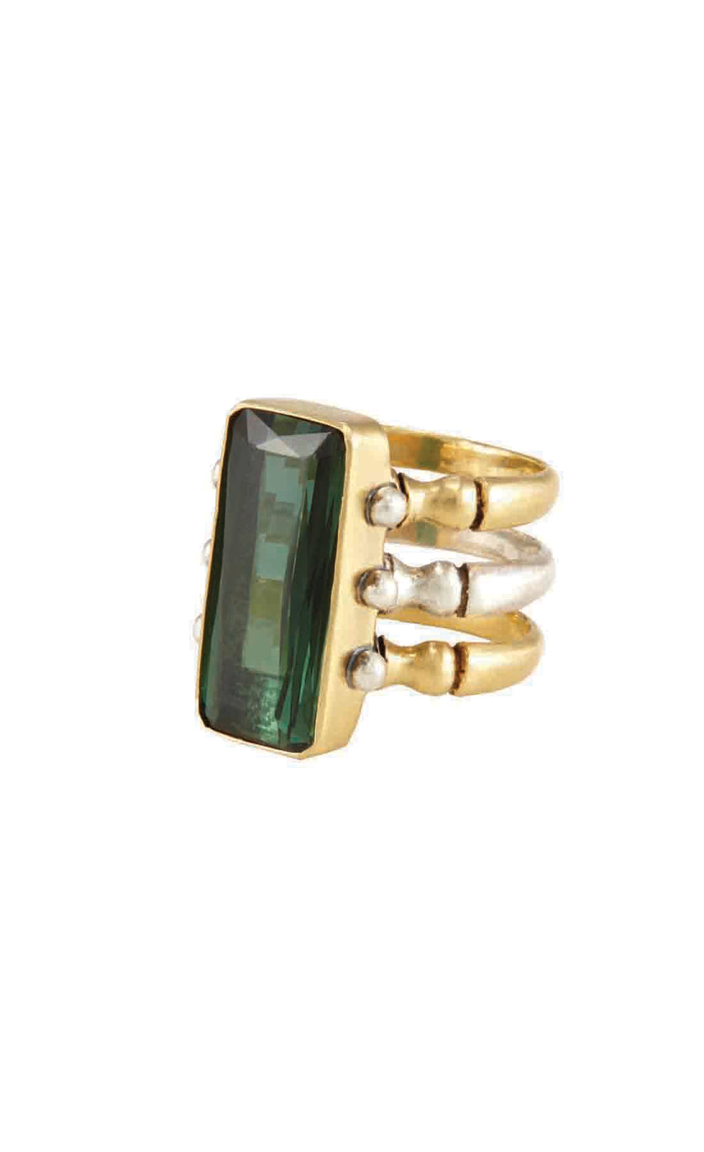 Triad Green Tourmaline Ring