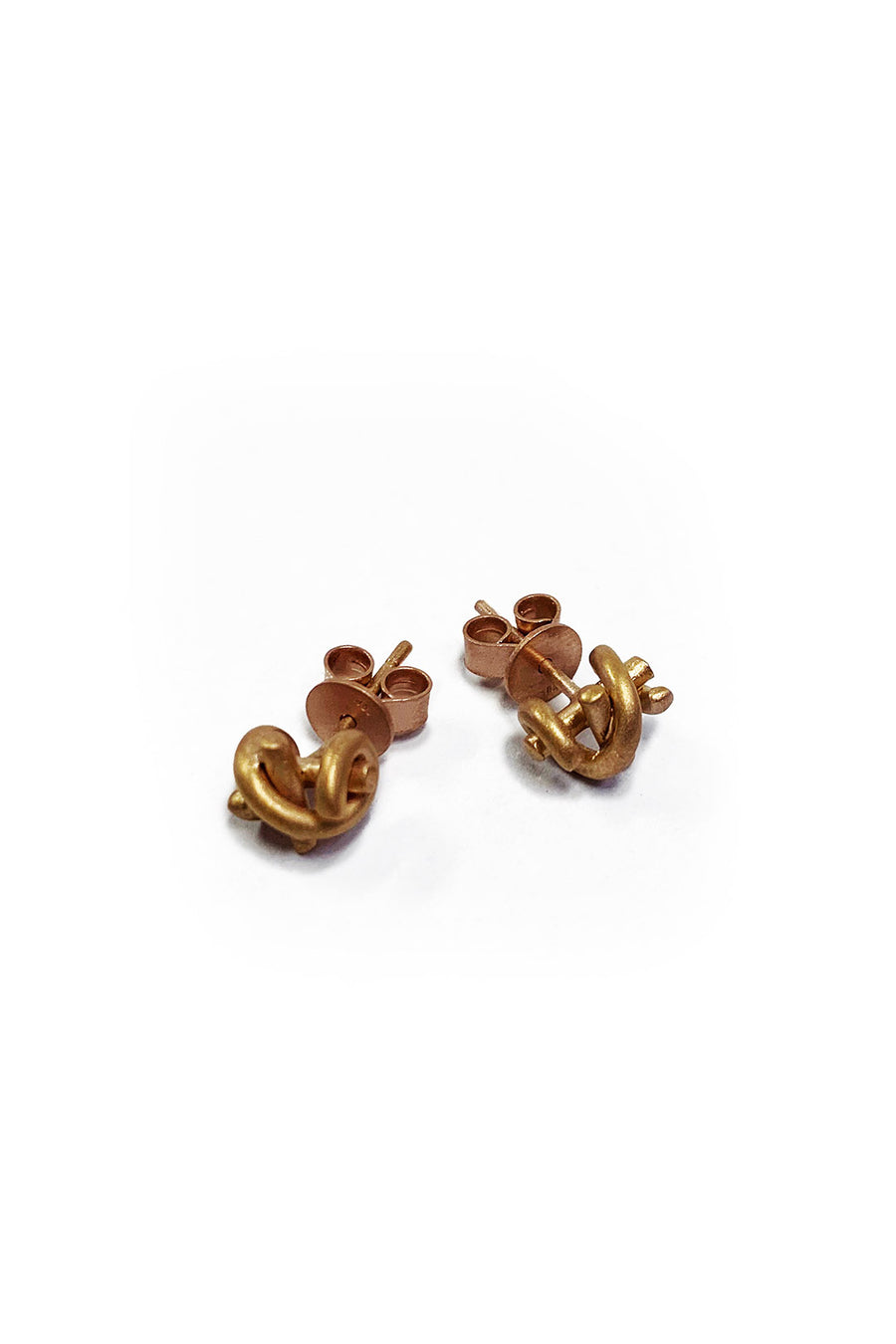 CLEOPATRA ROSE GOLD KNOT STUD EARRINGS