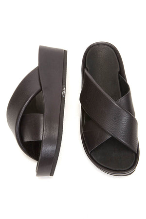 Peter Non Hicruz Platform Sandals in Black