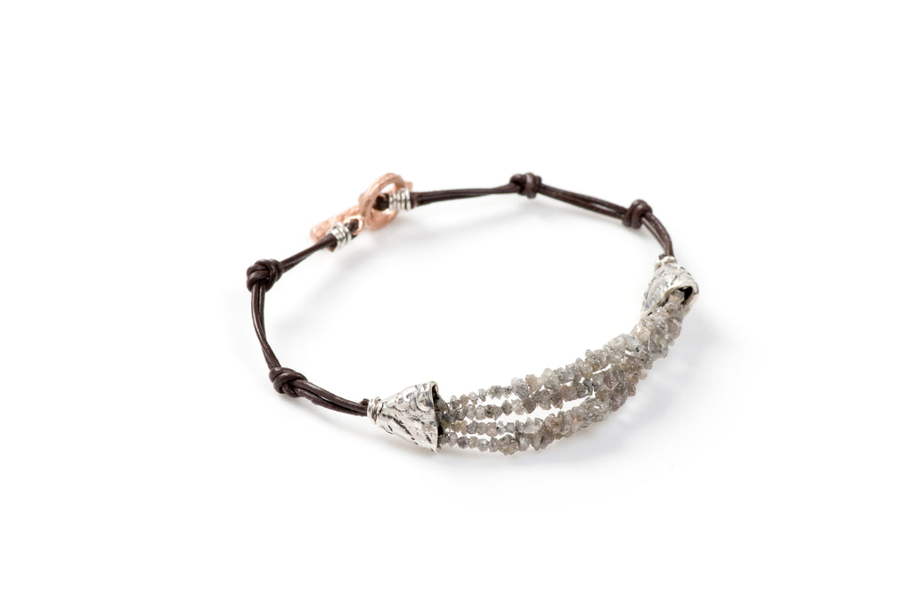 Aaliyah Grey Diamond Bracelet