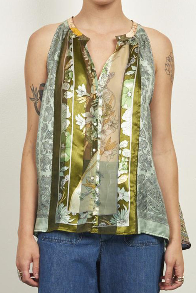 Upcycled Scarves Tank