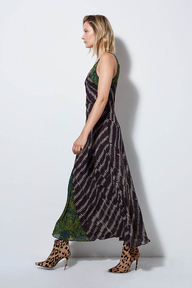 SIREN SILK PRINT DRESS | BURNING TORCH | WOMEN'S DRESS