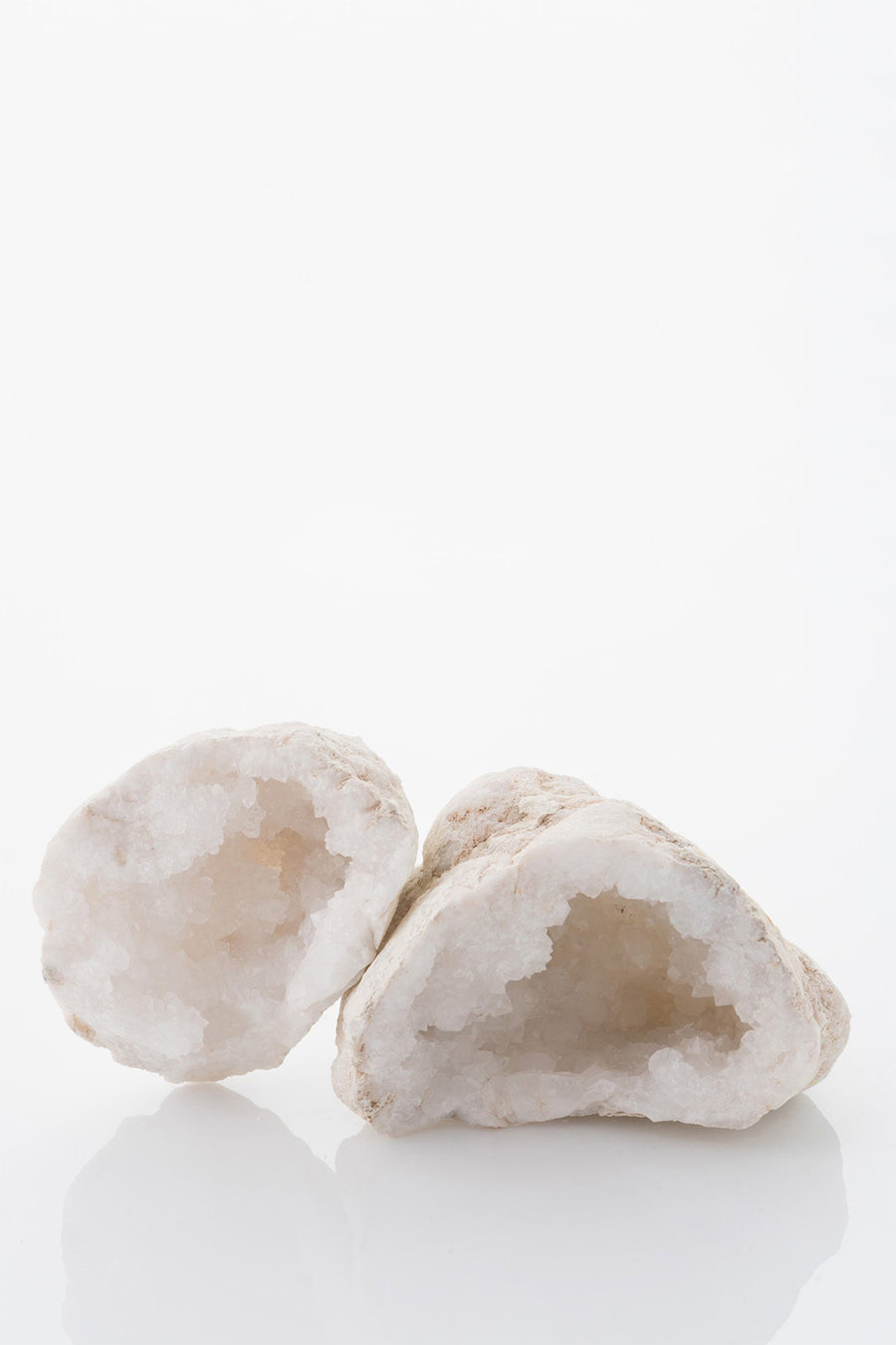 Whole White Quartz Geode