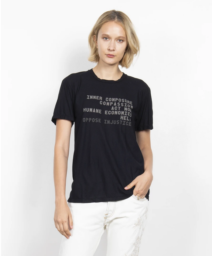 LIST OF ACTIONS TEE, BLACK