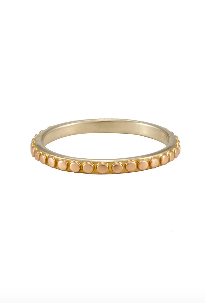 OMEGA 18KT GOLD DOT RING
