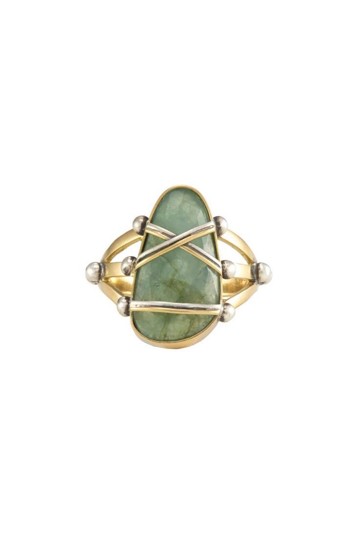 SHIBARI EMERALD 18K GOLD RING