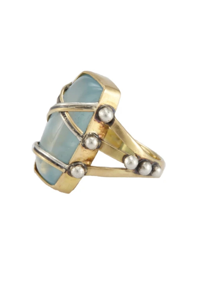 SHIBARI AQUAMARINE RING