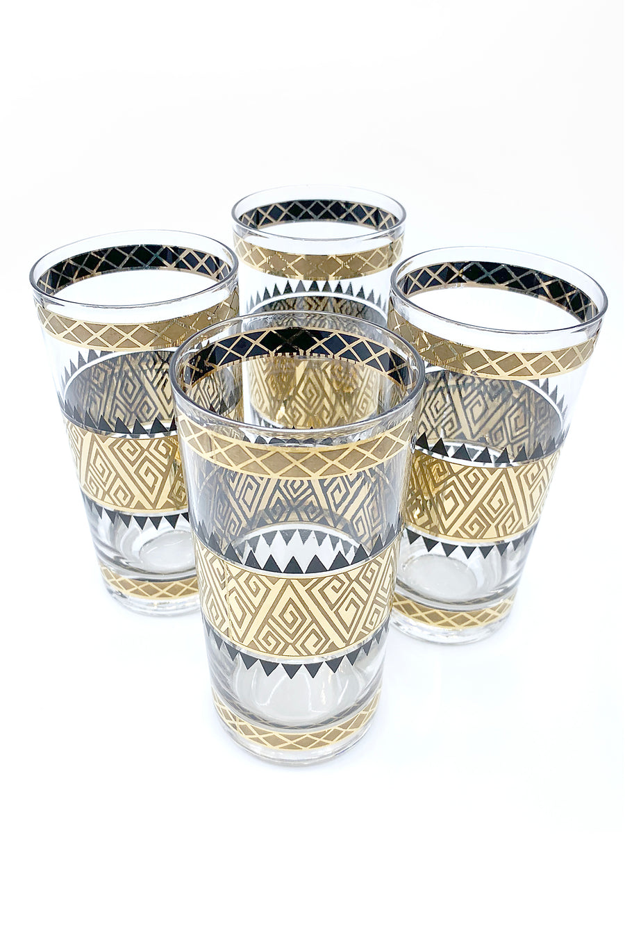 TAB173 CULVER PISA GLASSES SET OF 4