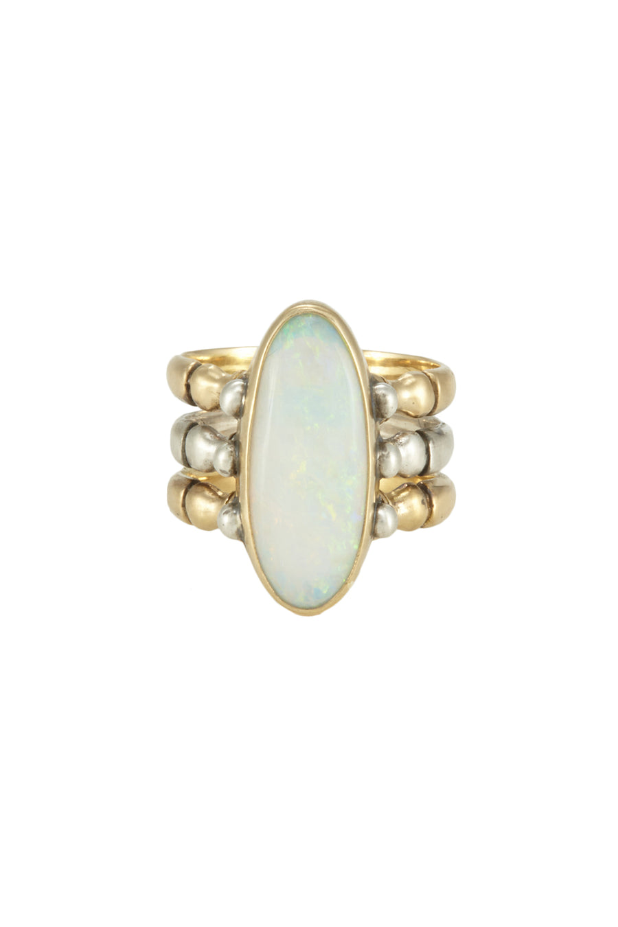 TRIAD 18kt gold fire opal RING