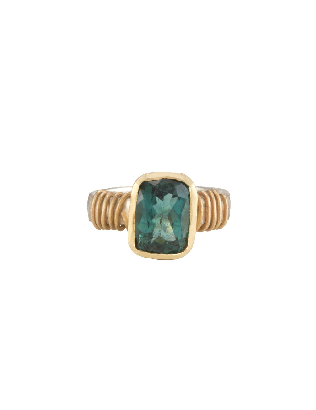 Tsutsumi Green Tourmaline Ring