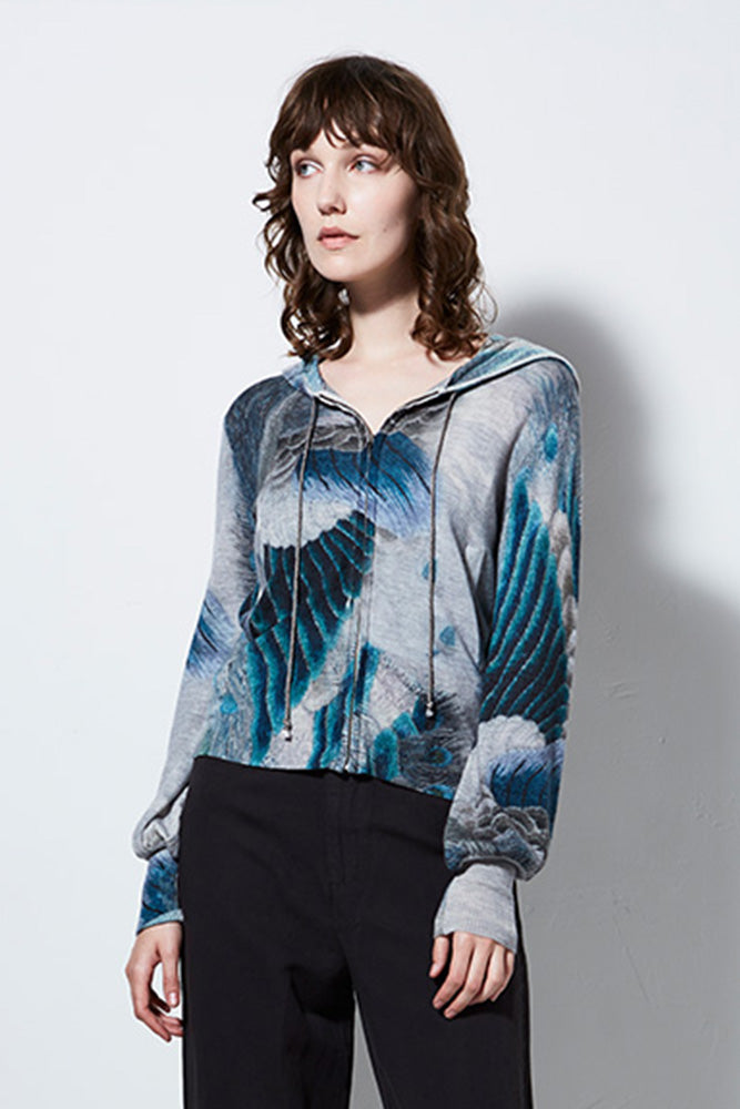 VIEW CASHMERE HOODIE, PEACOCK | BURNING TORCH