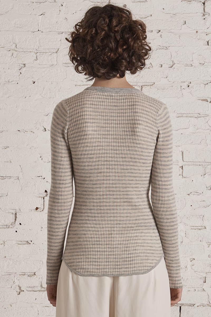 Olympia Knit Henley Heather