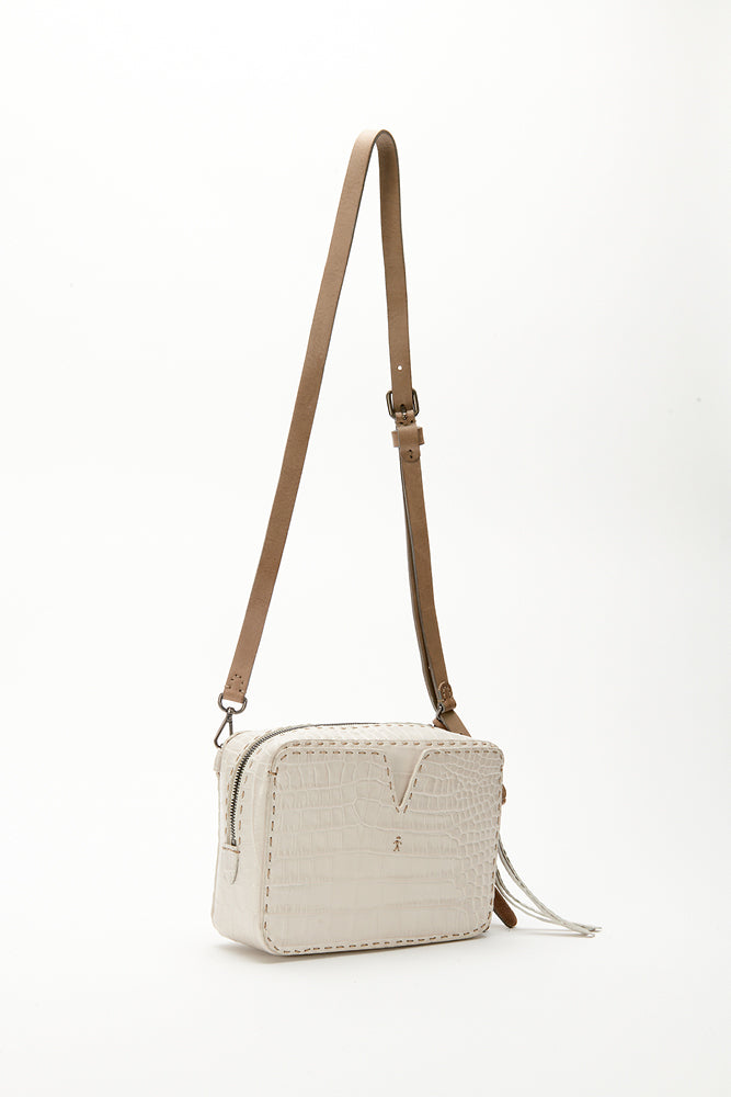 HENRY BEGUELIN TEXTURED IVORY BAG