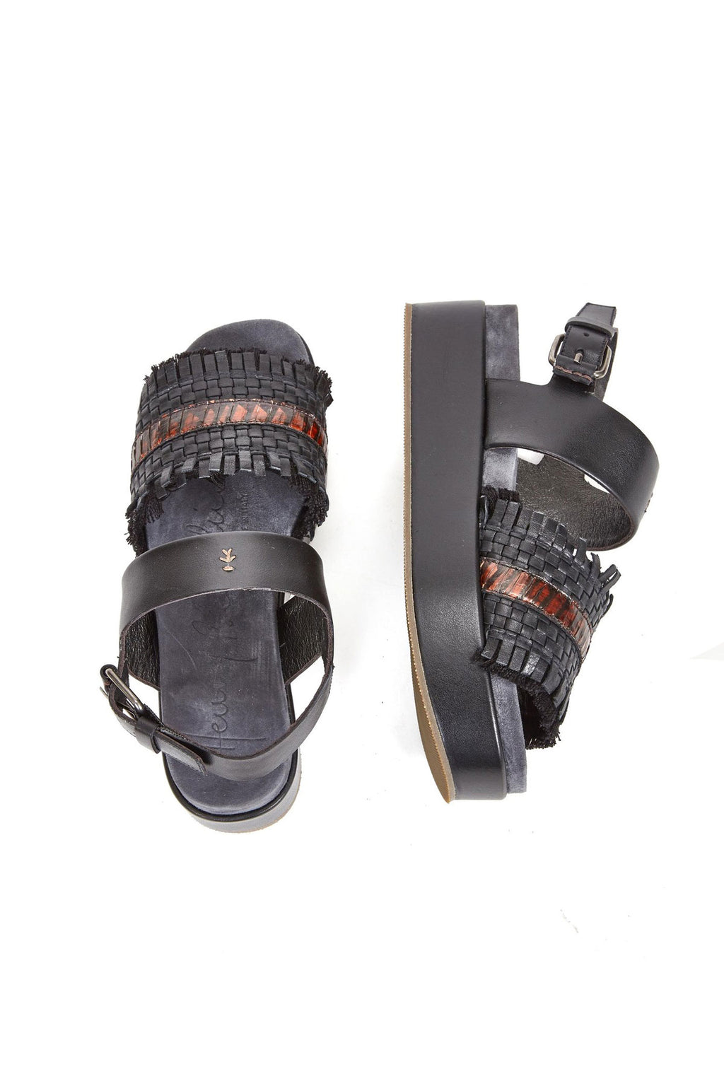 Henry Beguelin Platform Sandal Black & Brown
