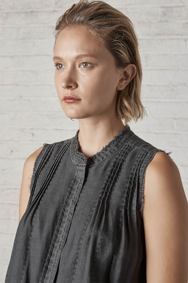 Marfa Sleeveless Shirt Washed Black